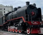 steam engine at the Krasnoyarsk Railway Station