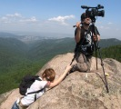 Excursions to Stolby Reserve - Canadian TV crew